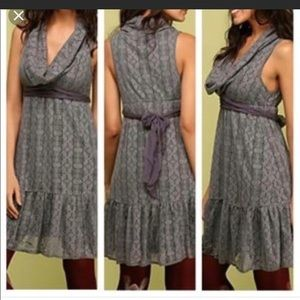 Free People Cowell neck knee maroon lace Dress